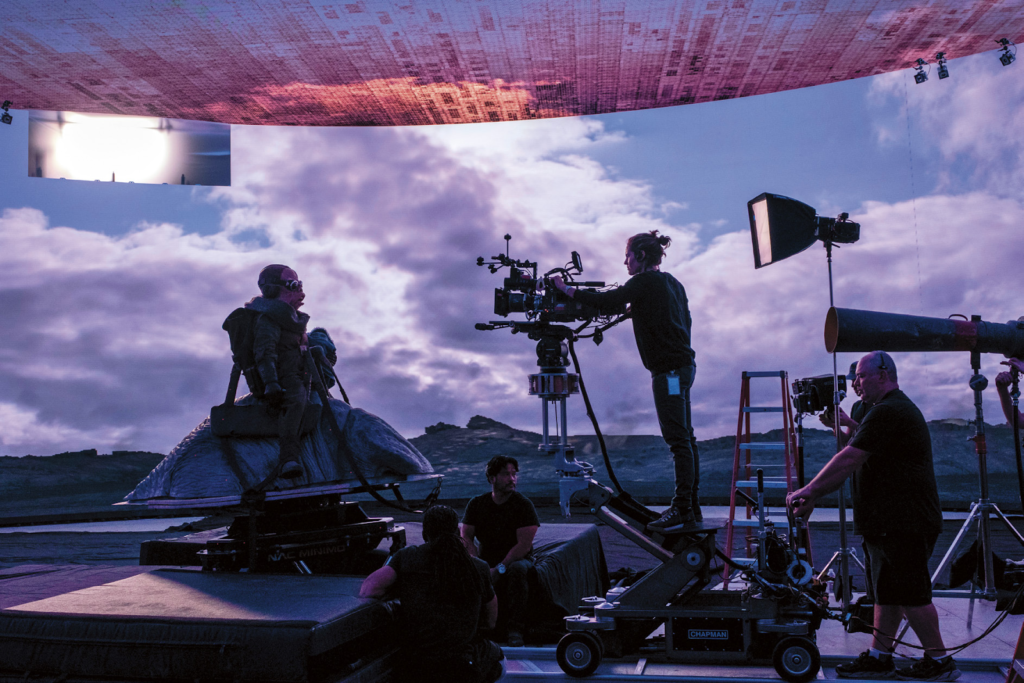 An example of XR from the set of the TV series 'The Mandalorian'